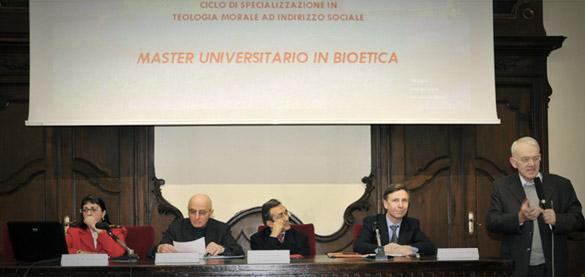 In Facoltà consegna dei Diplomi del Master in Bioetica