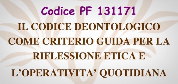 «Codice Deontologico»: 17 ottobre, Fatebenefratelli – San Maurizio Canavese