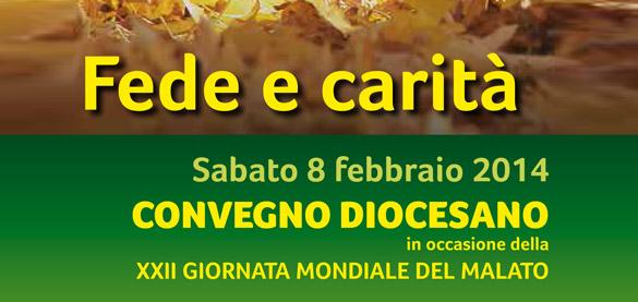 Convegno «Fede e Carità» per la XXII Giornata Mondiale del Malato, 8 febbraio Santo Volto