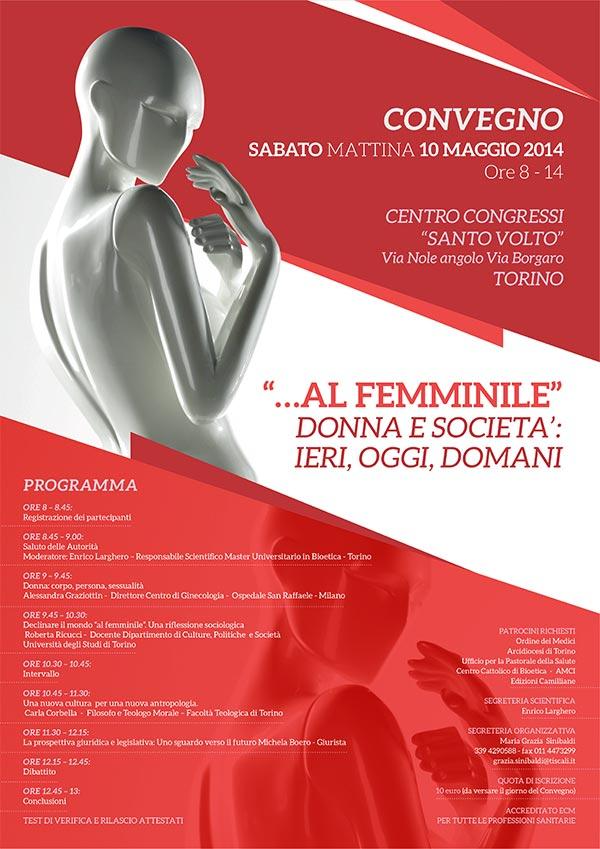 Il poster con il programma dell'evento