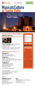 Locandina  concerti al Santo Volto in occasione dell'Ostensione sindonica 2015