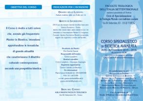 DEPLIANT BIOETICA AVANZATA _TEOLOGIA TORINO 2015-2016_fronte