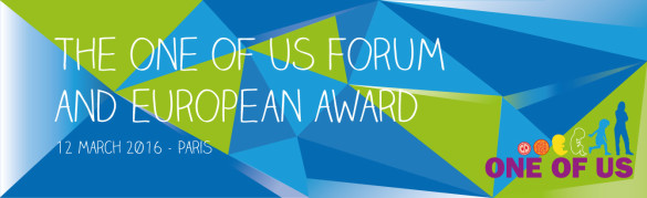 One of us _ 1° Forum e premiazione europea a Parigi