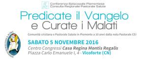 Convegno Regionale Pastorale Salute 05 11 2016_ Vicoforte (Cn) banner