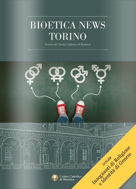 Copertina Bioetica News Torino n.35 - Dossier gender e insegnamento religione