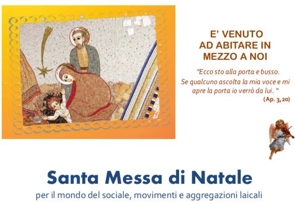 Santa Messa di Natale per il mondo del sociale, movimenti e aggregazioni laicali