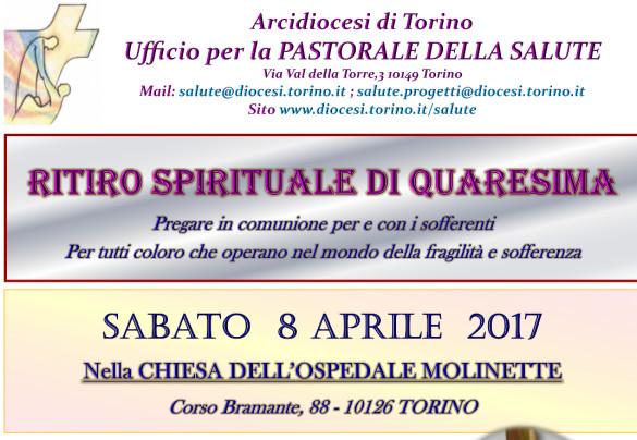 Ritiro spirituale di Quaresima  per operatori sanitari e pastorali del mondo della Salute