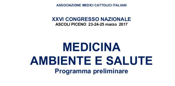 XXVI Congresso nazionale AMCI: Medicina, ambiente e salute