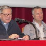 Da sinistra: don Lino Piano, Padre generale della  Piccola Casa cottolenghina, e il diacono Francesco Benedic al Convegno