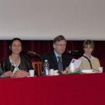 Alla tavola rotonda sono intervenuti: da sinistra Carlo Alberto Raucci, Alessandra Berardo, Enrico Larghero (moderatore), Chiara Maghenzani e don Gianpaolo Pauletto