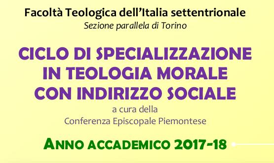 Ciclo di specializzazione alla Facoltà Teologica Torino a.a. 2017-2018