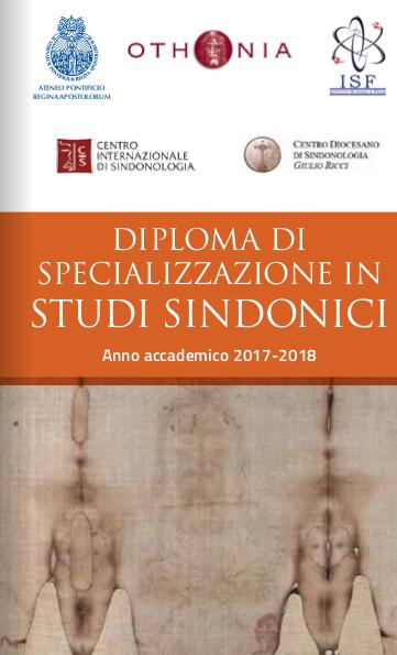 Diploma di Specializzazione in Studi Sindonici, VI ed., a.a. 2017-2018