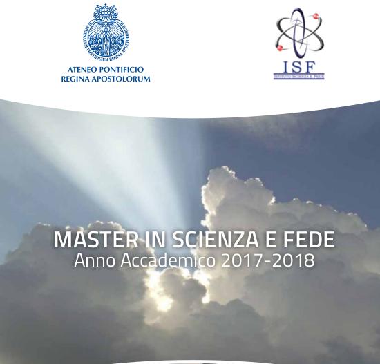 Master in Scienza e Fede a.a. 2017-2018