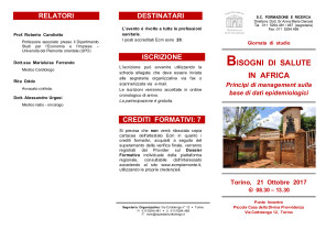 Bisogni di salute in Africa_ 2017 Cottolengo_ banner