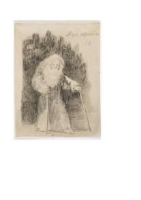 Fig.4. «Aún aprendo» di Francisco de Goya (1824-1928), autoritratto dell'artista all'età di ottanta anni con una nota che riprende un motto attribuito a Michelangelo (e anche a Leonardo): «ancora imparo!»