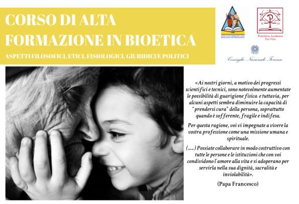 Corso di Alta formazione in Bioetica