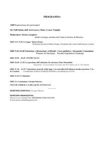Convegno Disposizioni anticipate di trattamento e obiezione di coscienza, Facoltà Teologica di Torino, 19 maggio 2018, programma parte 2