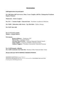 Convegno, Un Welfare sostenibile per  anziani fragili, Facoltà Teologica Torino, programma parte 2