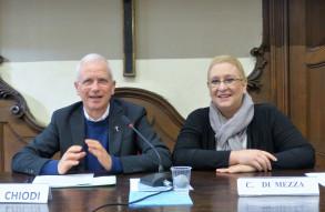 Da sinistra prof.  Maurizio Chiodi (relatore) e la prof.ssa Clara Di Mezza, Teologo morale Issr di Torino (moderatrice) al Corso Specialistico di Bioetica Avanzata a.a. 2018-2019 ©Bioetica News Torino