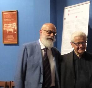 Da sinistra prof. Gian Maria Zaccone, direttore del Centro Internazionale di Sindonologia, e  Mons. Giuseppe Ghiberti, presidente onorario Commissione  per la Sindone- Arcidiocesi di Torino