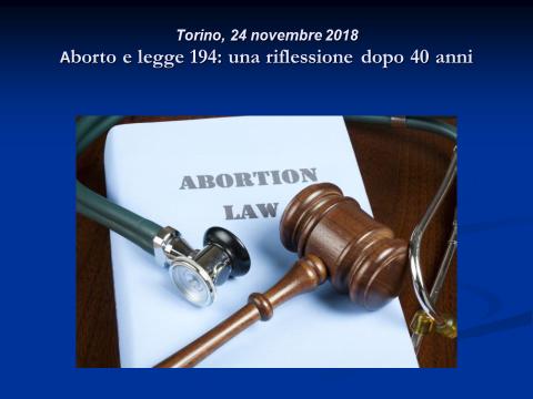 Immagine  della locandina del Convegno Aborto e Legge 194: una riflessione dopo 40 anni