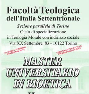 MASTER BIOETICA II anno 2019 2020_Facoltà Teologica _banner