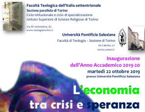 Inaugurazione_a.a._2019-20 Facoltà Teologia e UPS Torino_locandina
