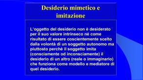 """Tab. II Descrizione del concetto di """"Desiderio mimetico"""" usato da R. Girard, a cura di R. Ferraris"""