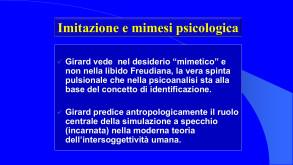 """Tab. III Descrizione della Teoria del """"Desiderio mimetico"""" di R. Girard, a cura di R. Ferraris"""
