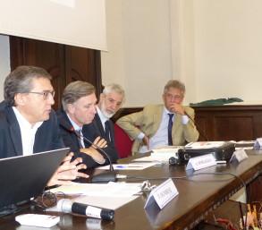 Da sinistra Francesco OGNIBENE, Enrico LARGHERO, Piero BIANUCCI e Alberto RICCADONNA  © Bioetica News Torino
