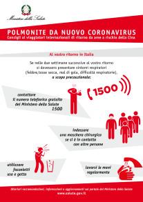 Fig. II. Consigli per i viaggiatori internazionali da aree a rischio della Cina , Fonte Ministero della Salute Italia