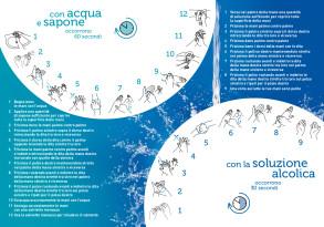Prevenzioni infezioni lavaggio mani opuscolo Ministero Salute 2020 B