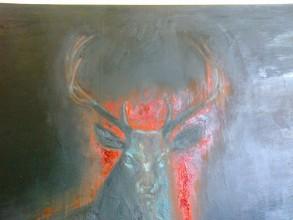 Santo TOMAINO, Ciclo Ardium (1990),  olio su tela, Holy MisterY, Santo Volto Torino 2015