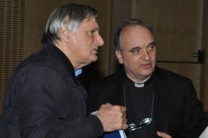 Don Luigi Ciotti e don Marco Brunetti, Santo Volto 22-24 maggio 2015 © foto P. Garelli