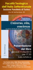 Locandina presentazione volume di Valter Danna Universo, vita, coscienza