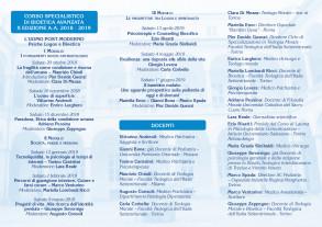 Dépliant del Corso Specialistico in Bioetica Avanzata a.a. 2018-2019, Facoltà Teologica Torino_ 2 parte