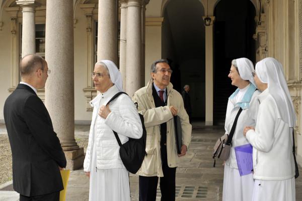 Prof. Don Giuseppe Zeppegno insieme alla Dr.ssa Sr A. Derossi ©Foto A. D'Angelo