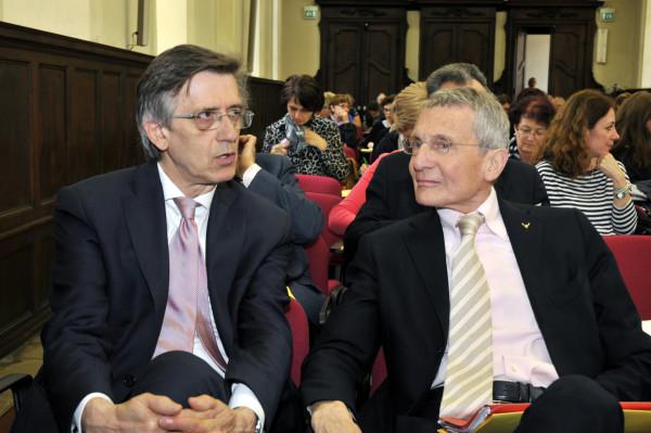 Valter Boero, presidente MpV Torino e avv. Pino Morandino, magistrato e vice presidente nazionale MpV ©F. A. D'Angelo