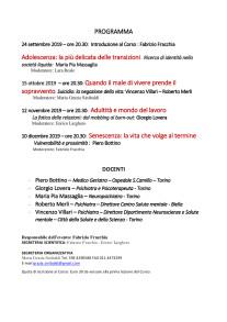 FRAGILITA' ESISTENZIALI AMCI TORINO 2019 PARTE SECONDA PROGRAMMA